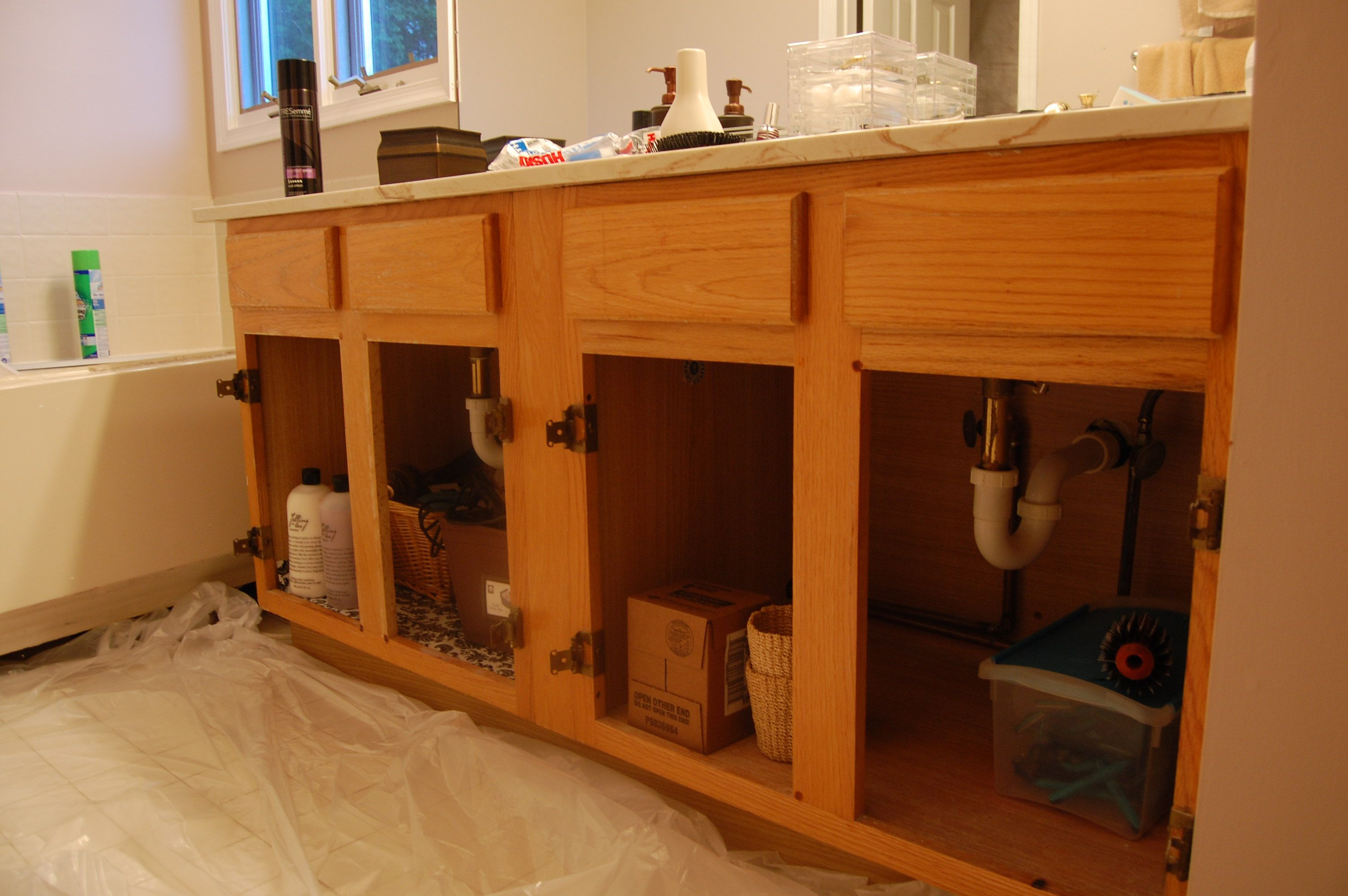 Painting A Bathroom Vanity  Zinsser Primer Was Oil Based But The Paint Used  Was