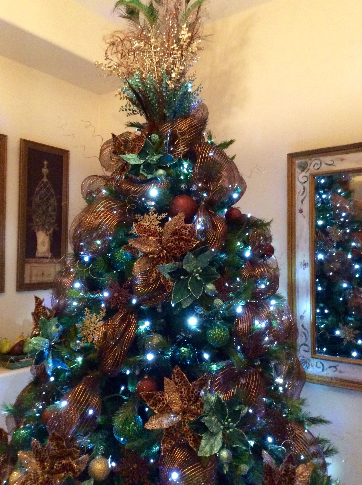 2014 Christmas Tree - chocolate, turquoise , leopard ...