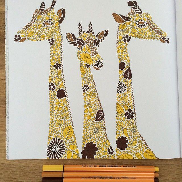 #ShareIG Temps gris, déception et petit moral = hyper productivité... En terme de coloriage car pour le travail c'est une autre histoire. #coloriagedegrands #animauxfantastiques #safariantistress