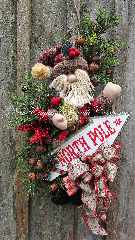 north pole santa swag a new england wreath company designer rh pinterest com