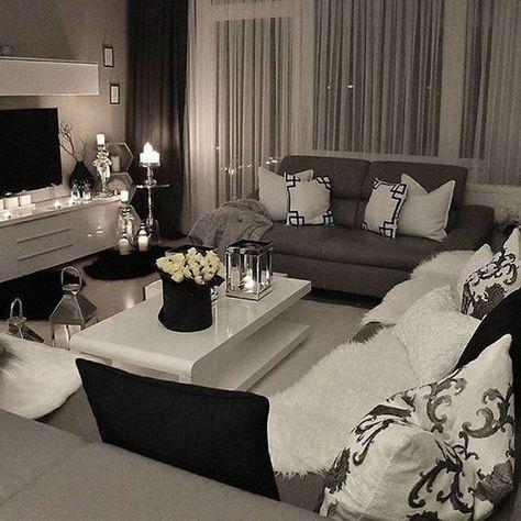 Gemutliches Wohnzimmer White Living Room Decor Silver Living