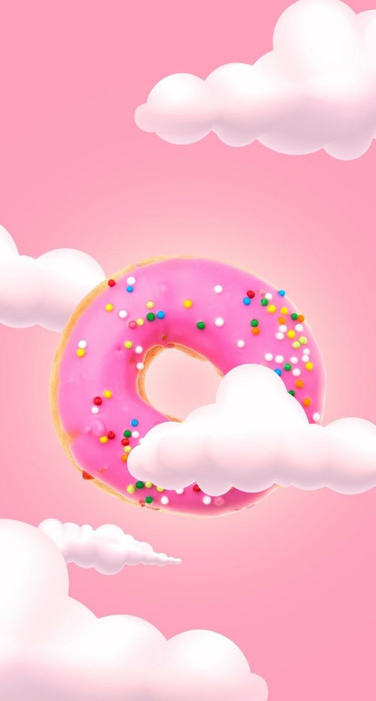 Cute Donut Clouds Wallpaper Oboi Dlya Telefona Milye Oboi Yarkie Oboi