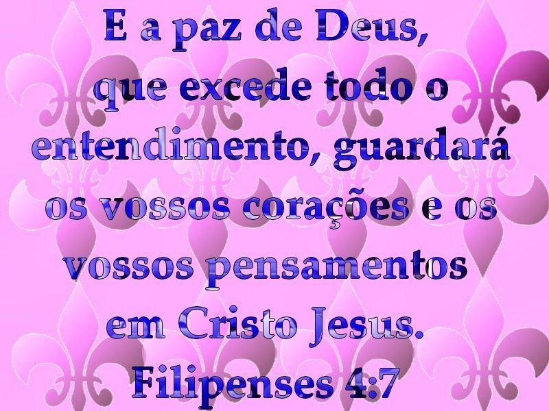 E A Paz De Deus Que Excede Todo O Entendimento Guardara Os
