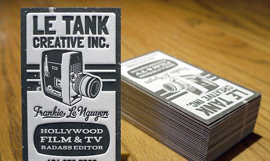 Le Tank Creative business card