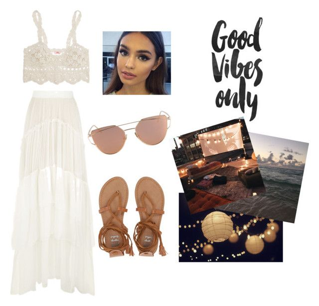 """""""Sin título #347"""" by masg ❤ liked on Polyvore featuring Anna Kosturova, Chloé, Billabong, Rocio and GET LOST"""