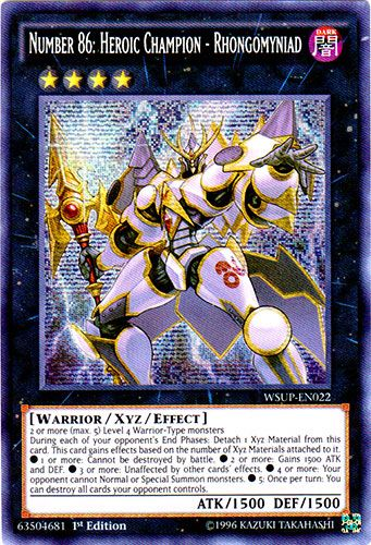 Yu-Gi-Oh 1x numeral Hunter-wsup-World superestrellas-Secret Rare