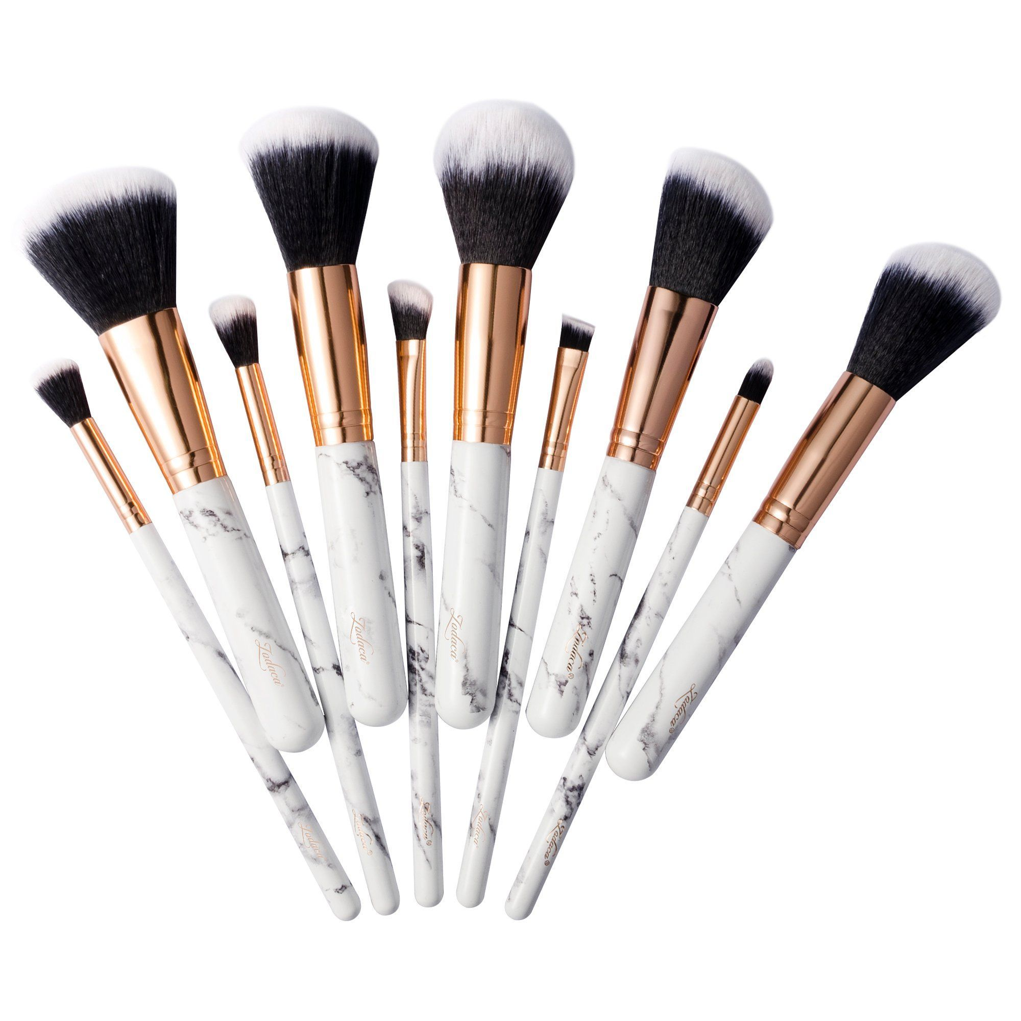 10 Piece Marble Design Professional Makeup Brush Set In 2020 Make Up Pinsel Make Up Pinsel Set Make Up