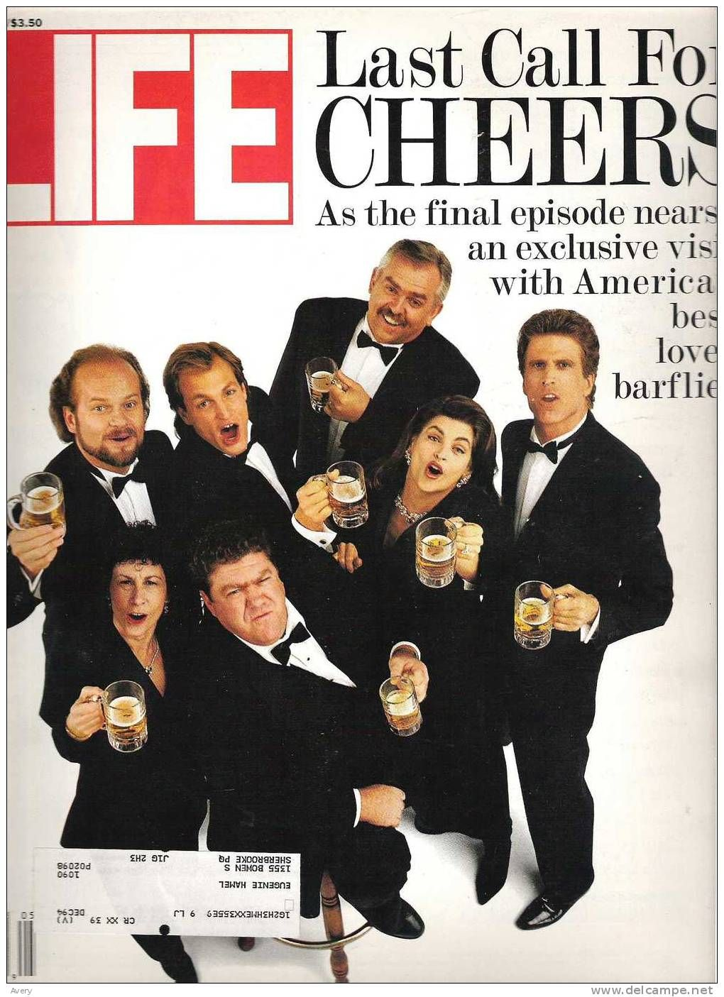 life magazine last call for cheers may 1993 pull out photo of cast