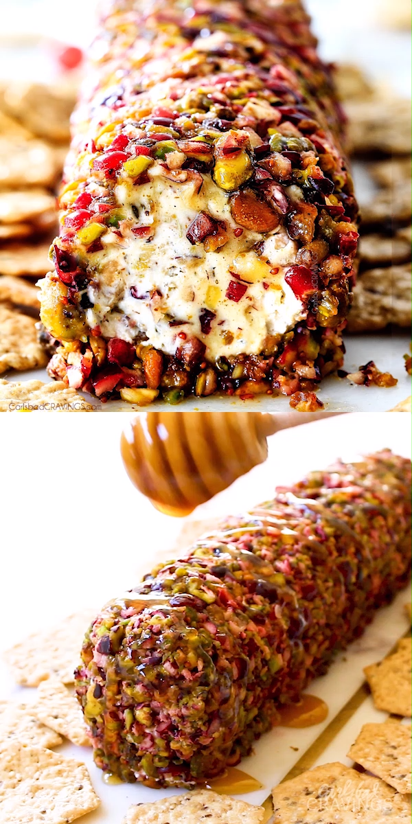 Cranberry Pistachio Cheese Log (10 minutes!)