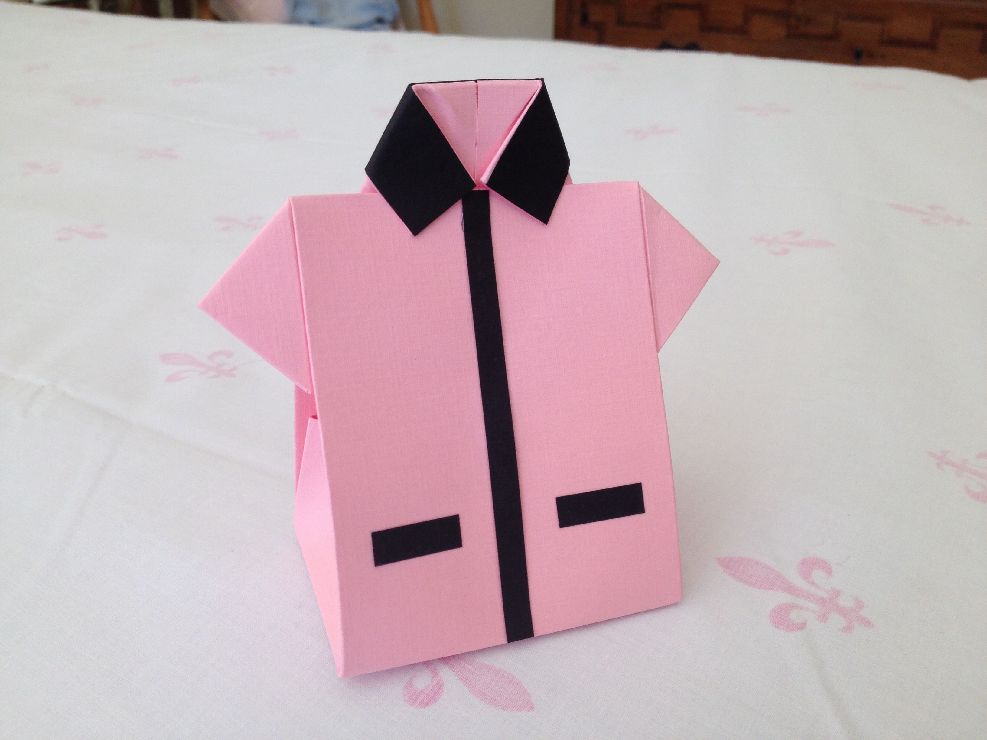 Origami Shirt Favor Box