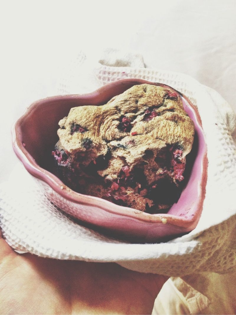 Berry-mugcake