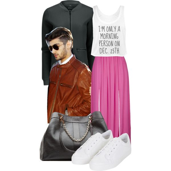A fashion look from March 2015 featuring ONLY jackets, Topshop skirts and Topshop sneakers. Browse and shop related looks.