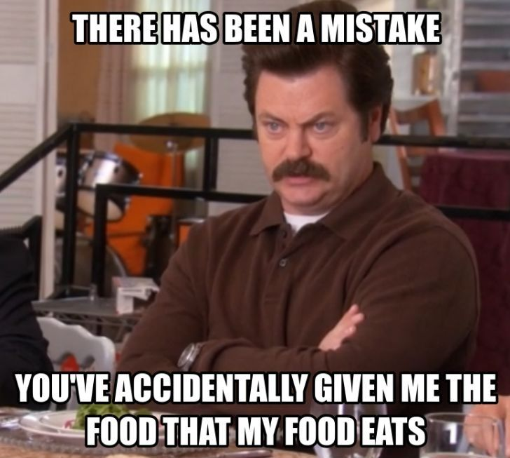 Ron You Ve Given Me What My Food Eats