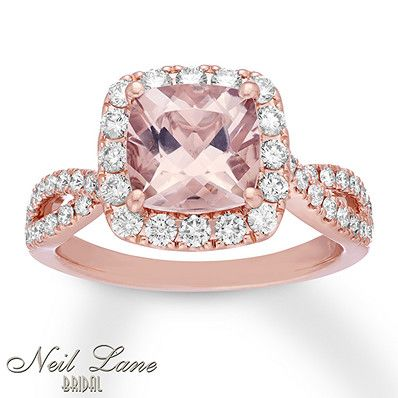 be82ff8e8 Kay - Neil Lane Morganite Engagement Ring 7/8 ct tw Diamonds 14K Gold