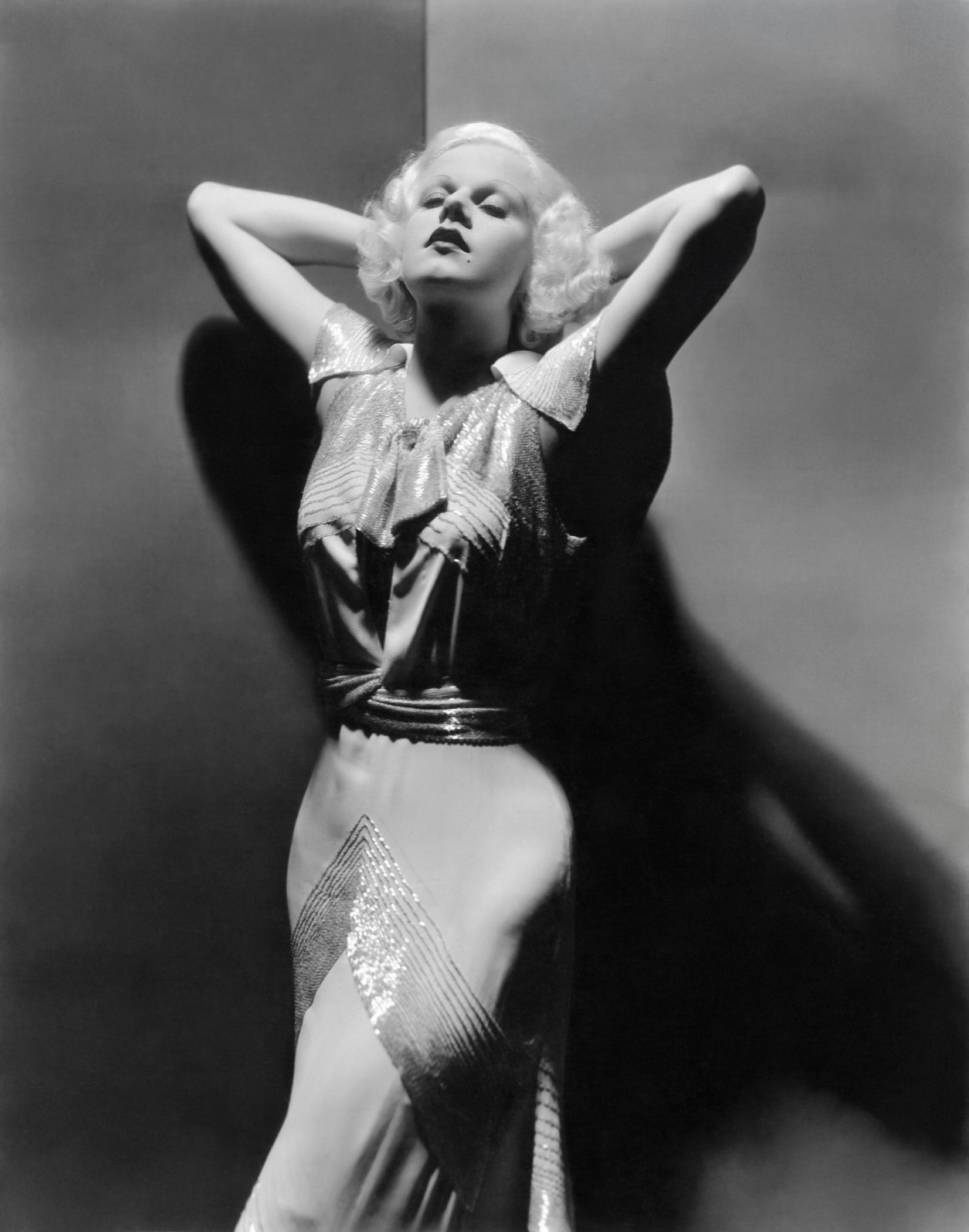 Portrait of Jean Harlow in Dinner at Eight, directed by George Cukor, 1933