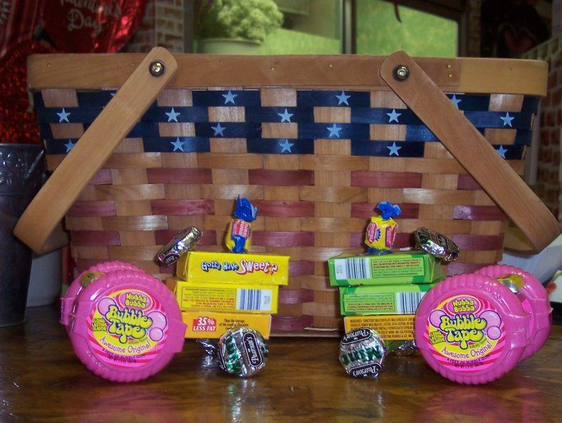 how to make candy tractors