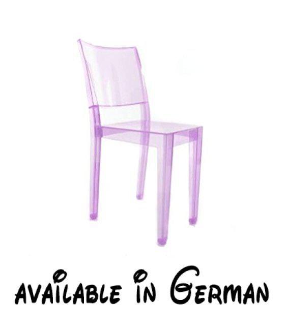 B004UL45OC : Kartell 4850B6 Stuhl La Marie Violett. Transparenter Stuhl Von Philippe  Starck. Gegossen