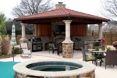 Backyard Living Space Photos | After   The Ultimate Outdoor Living Space   Covered  Patios Photo