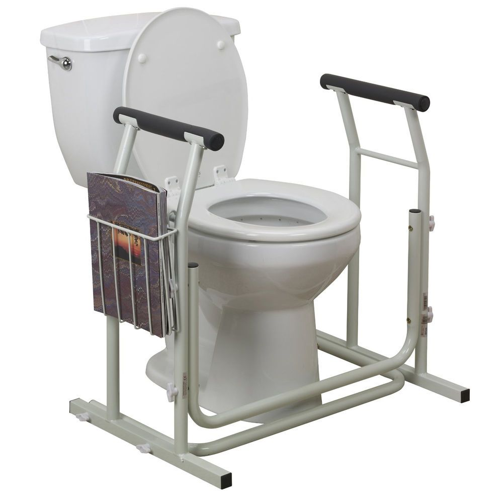 Toilet Safety Rail Surround Support Grab Bar Bathroom Frame Medical Handicap Aid Drivemedical