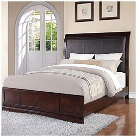 Kingston Faux Leather Queen Bed Bedroom Sets Queen Affordable Bedroom Furniture Affordable Bedroom