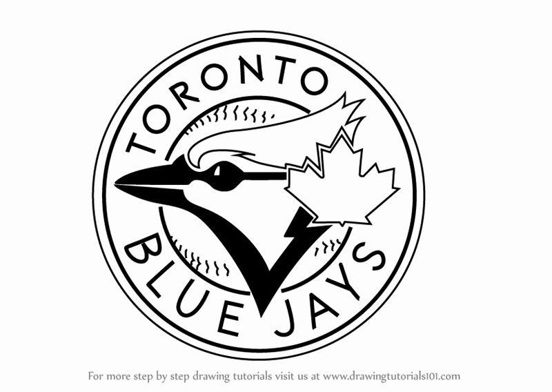 Blue Jay Coloring Page Beautiful Step By Step How To Draw Toronto Blue Jays Logo Coloring Pages Blue Jay Fox Coloring Page