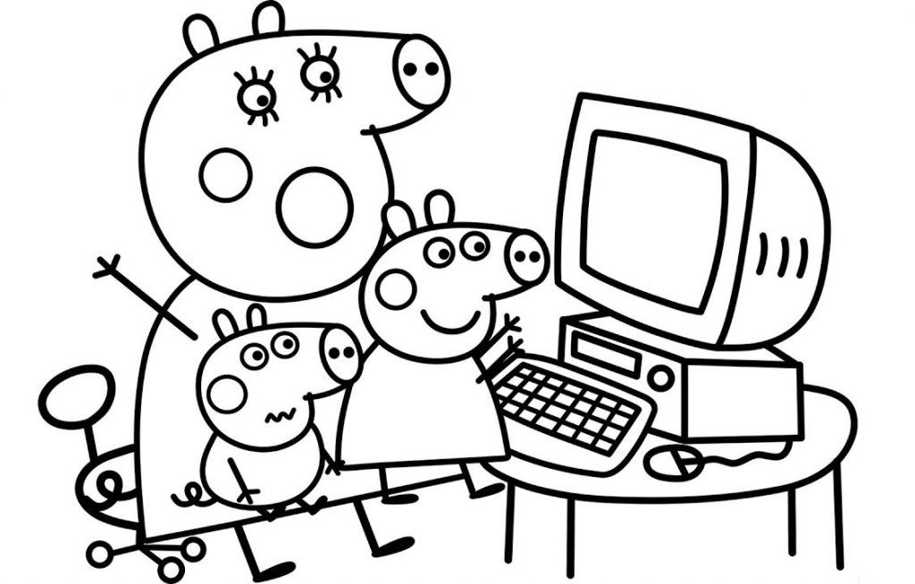 Computer Coloring Pages Peppa Pig Coloring Pages Peppa Pig