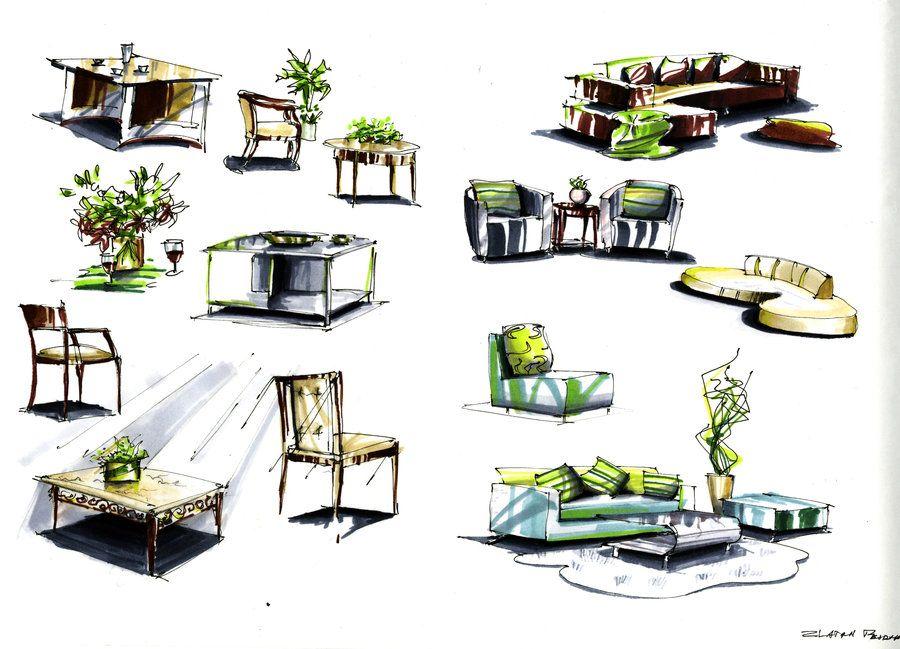 Furniture Design Sketches marker furniture sketcheszlaja.deviantart on @deviantart