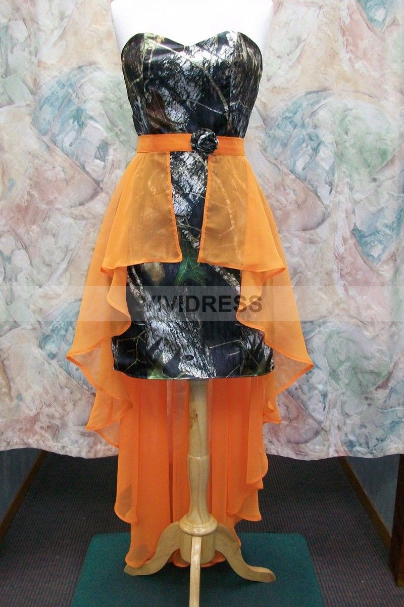 Wedding dresses camouflage and orange sheath column knee length wedding dresses camouflage and orange sheath column knee length sweetheart satin camo wedding dresses ombrellifo Image collections