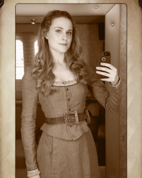 evanrachelwood: First picture I ever took as Dolores. Back in 2014, first day of filming the pilot.