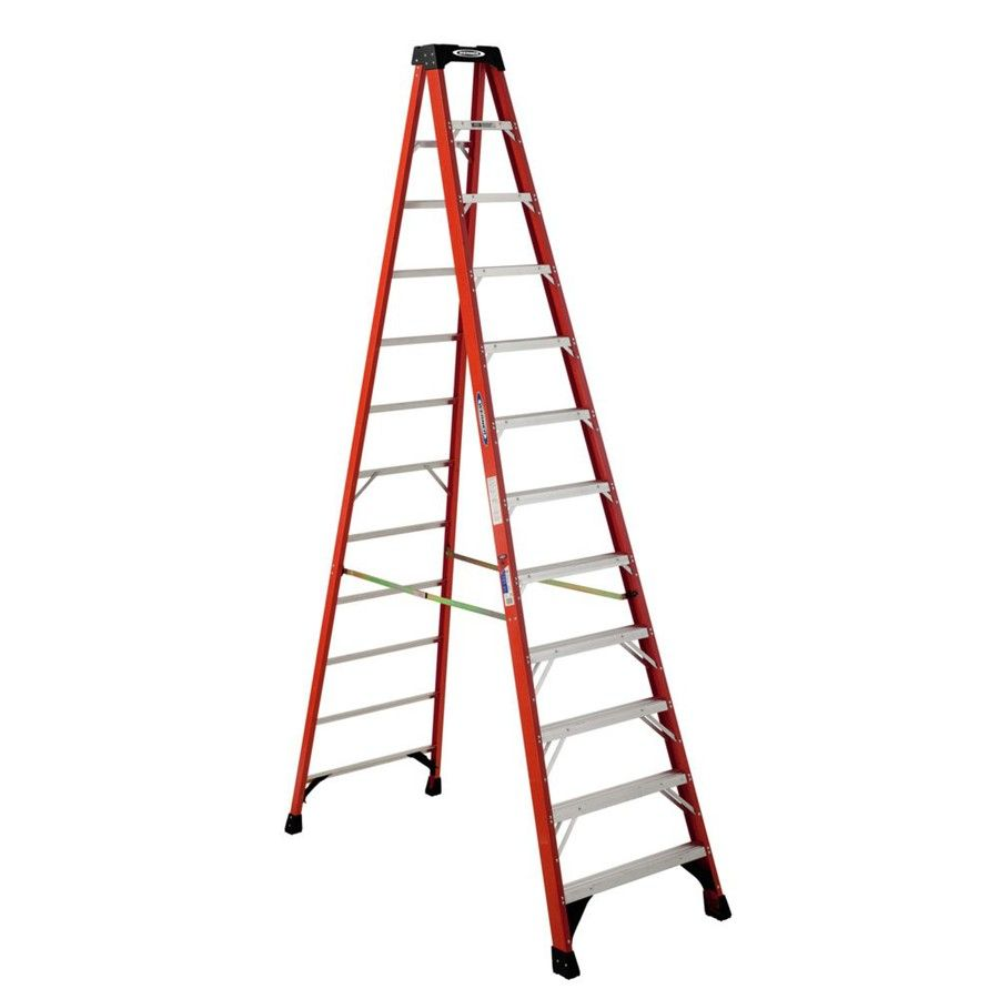 Werner 12 Ft Fiberglass Type 1a 300 Lbs Capacity Step Ladder At Lowes Com With Images Step Ladders Ladder Fire Escape Ladder