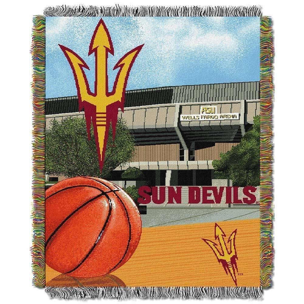 b2ad6e5610af5 NCAA Arizona State Sun Devils Throw Blanket 48x60 Maroon Gold