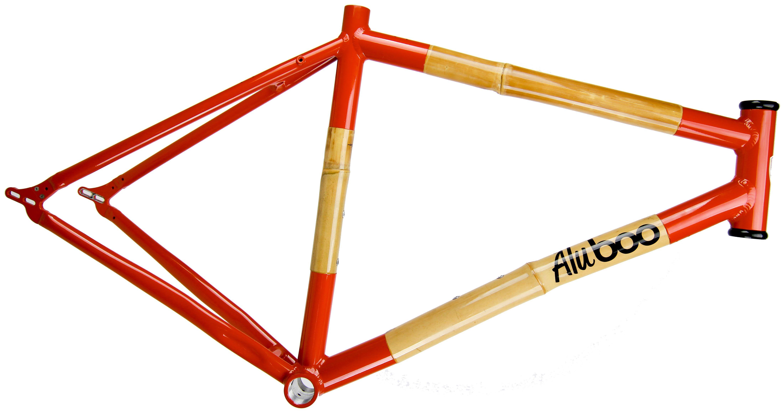 Aluboo - Inferno Orange Bamboo Bike Frame | Aluboo - Bamboo Bikes ...