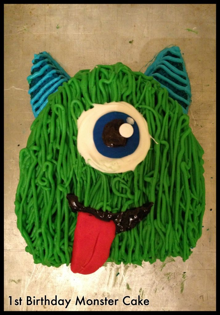 Monster Birthday Cake. So fun!