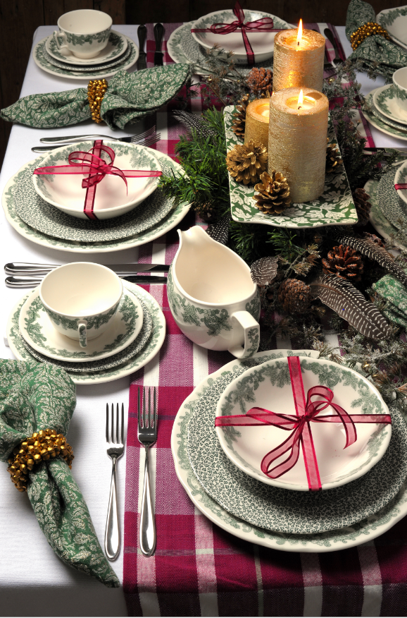 Ruskin House The John Lewis Spode Exclusive Heritage Collection Adds A Natural Country Feel To Any Rustic Tableware Christmas Dining Table Christmas Tableware