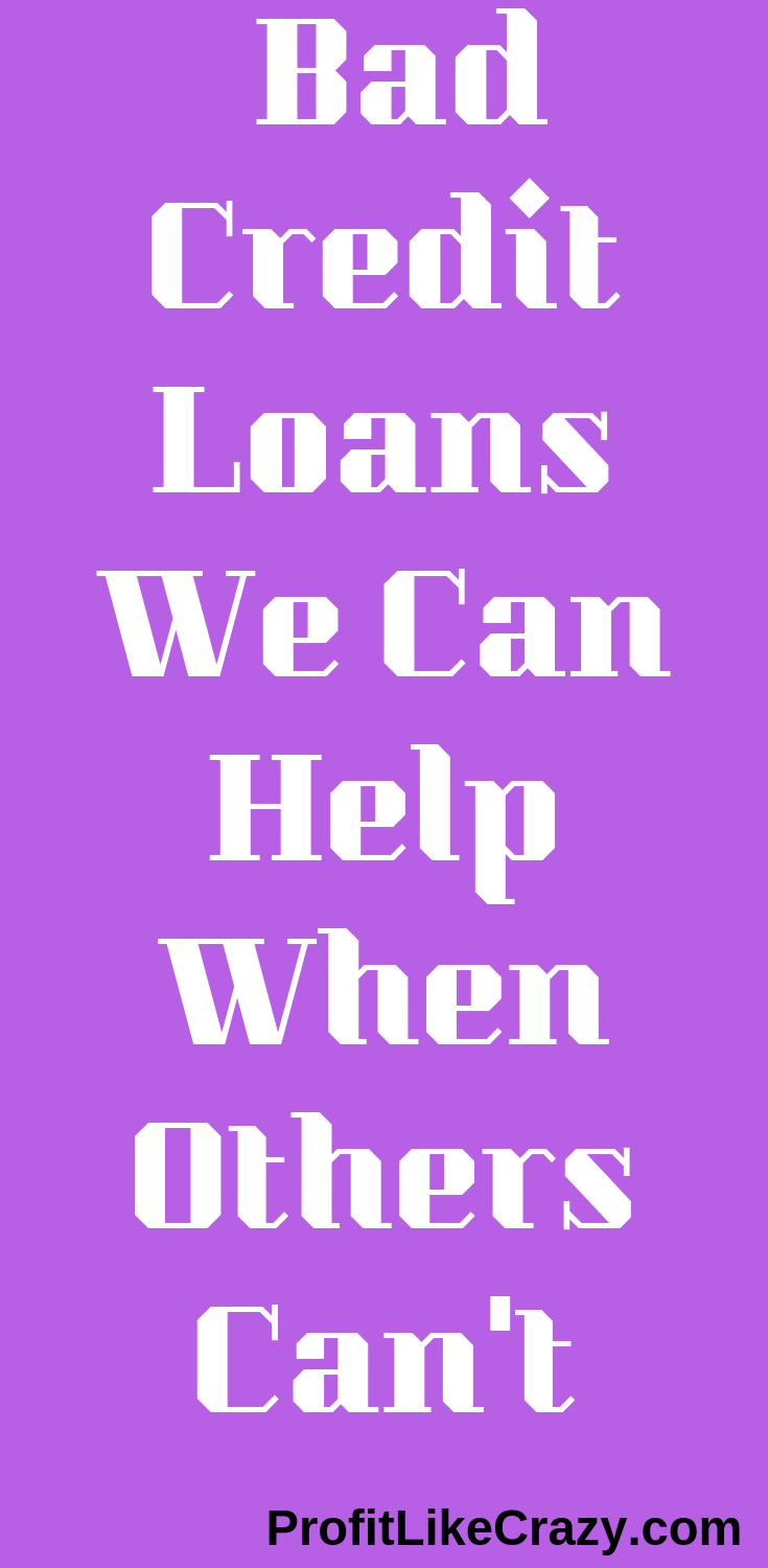Bad Credit Loans... The Truth How To Get Approved? No