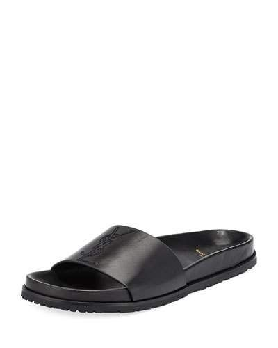 fc04e0fa5b49 SAINT LAURENT MEN S JIMMY 20 YSL SLIDE SANDAL.  saintlaurent  shoes ...