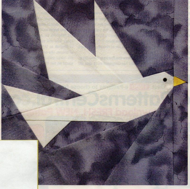 Paper Pieced Dove Quilt Pattern Pieced Paper Pieced Ul