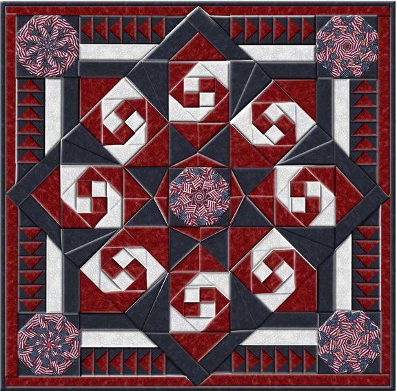 Patriotic Sparkler Kaleidoscope Quilt | Quilting, Sewing ...
