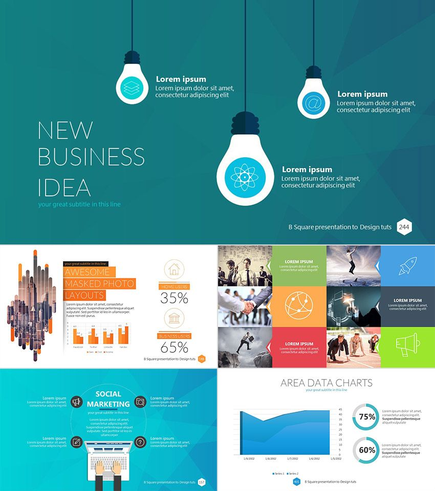 B square professional business powerpoint template power point b square professional business powerpoint template cheaphphosting Images
