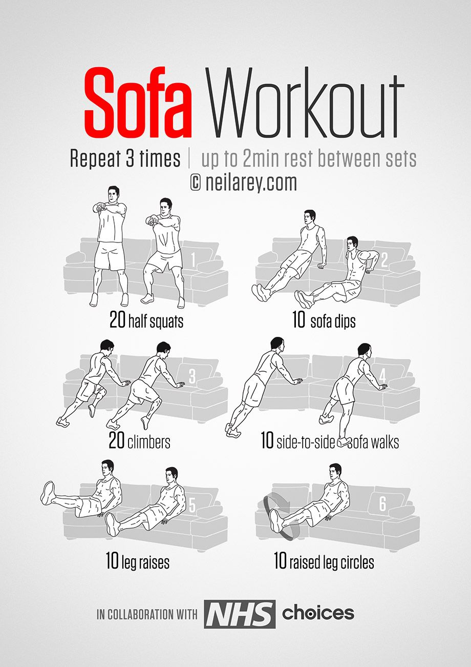 Get Fit From The Couch Easy workouts, Exercise, Couch
