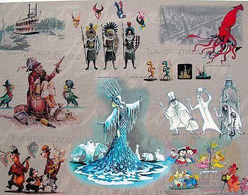 Walt Disney MARC DAVIS DISNEYLAND RIDES Ltd Edition Giclee Animation Concept Art