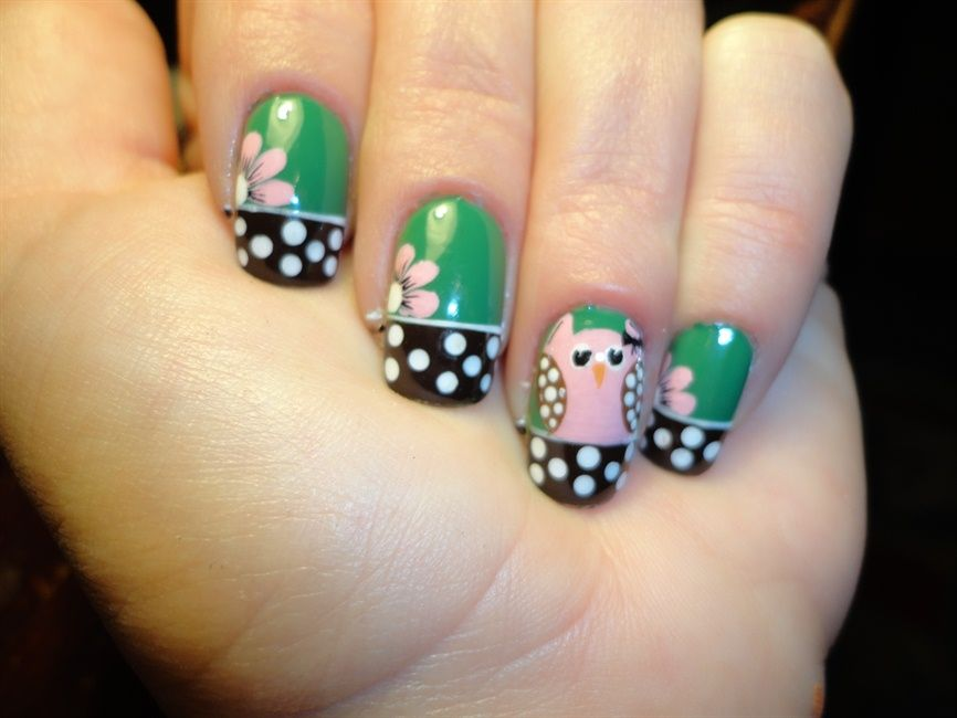 cute owl nail art Pinning made easy! http://www.pinny.co Pin any ...