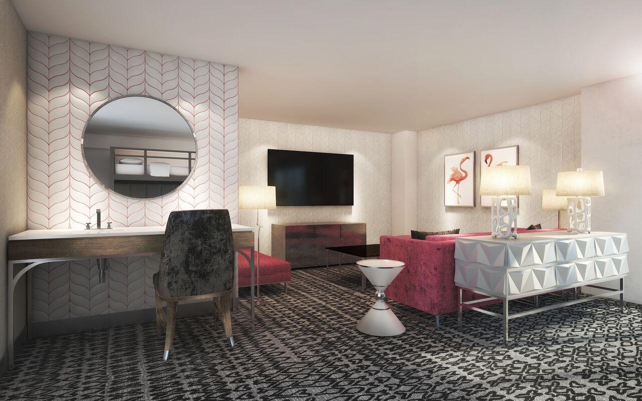 Flamingo Renovates More Rooms And Adds Bunk Beds Room Bunk Bed Rooms Flamingo Hotel Las Vegas