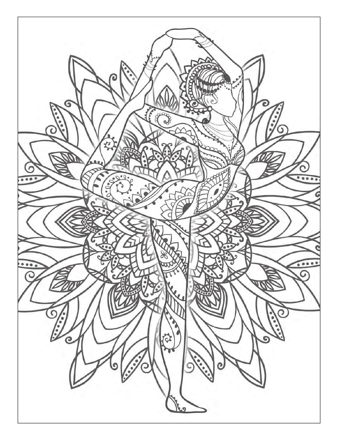 Yoga And Meditation Coloring Book For Adults With Yoga Poses And Mandalas Mandala Coloring Pages Designs Coloring Books Coloring Pages
