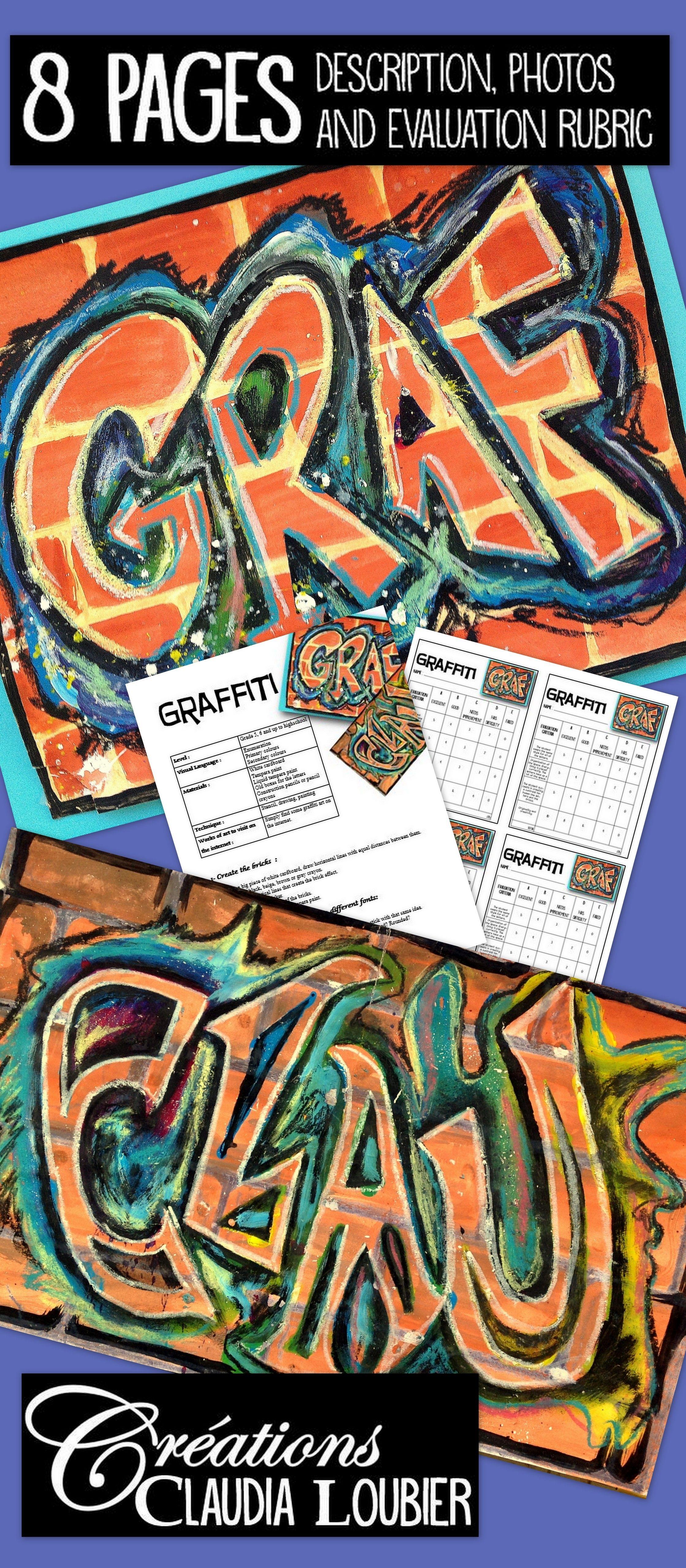 Graffitis Art Lesson Plan For Kids In