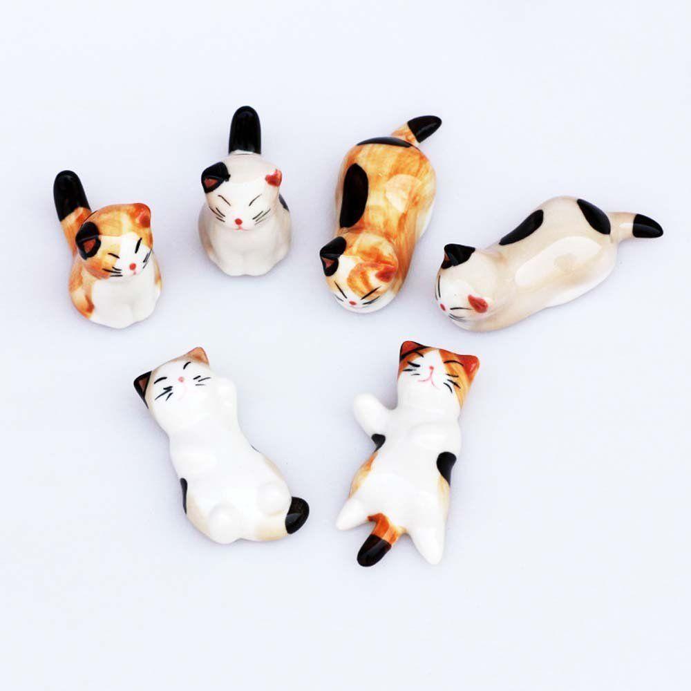 Poggia Bacchette In Ceramica Cinese A Forma Di Gatto Per Appoggiare Coltello Forchetta E Cucchiaio 6 Pezzi Amazo Ceramiche Cinesi Poggiabacchette Bacchette