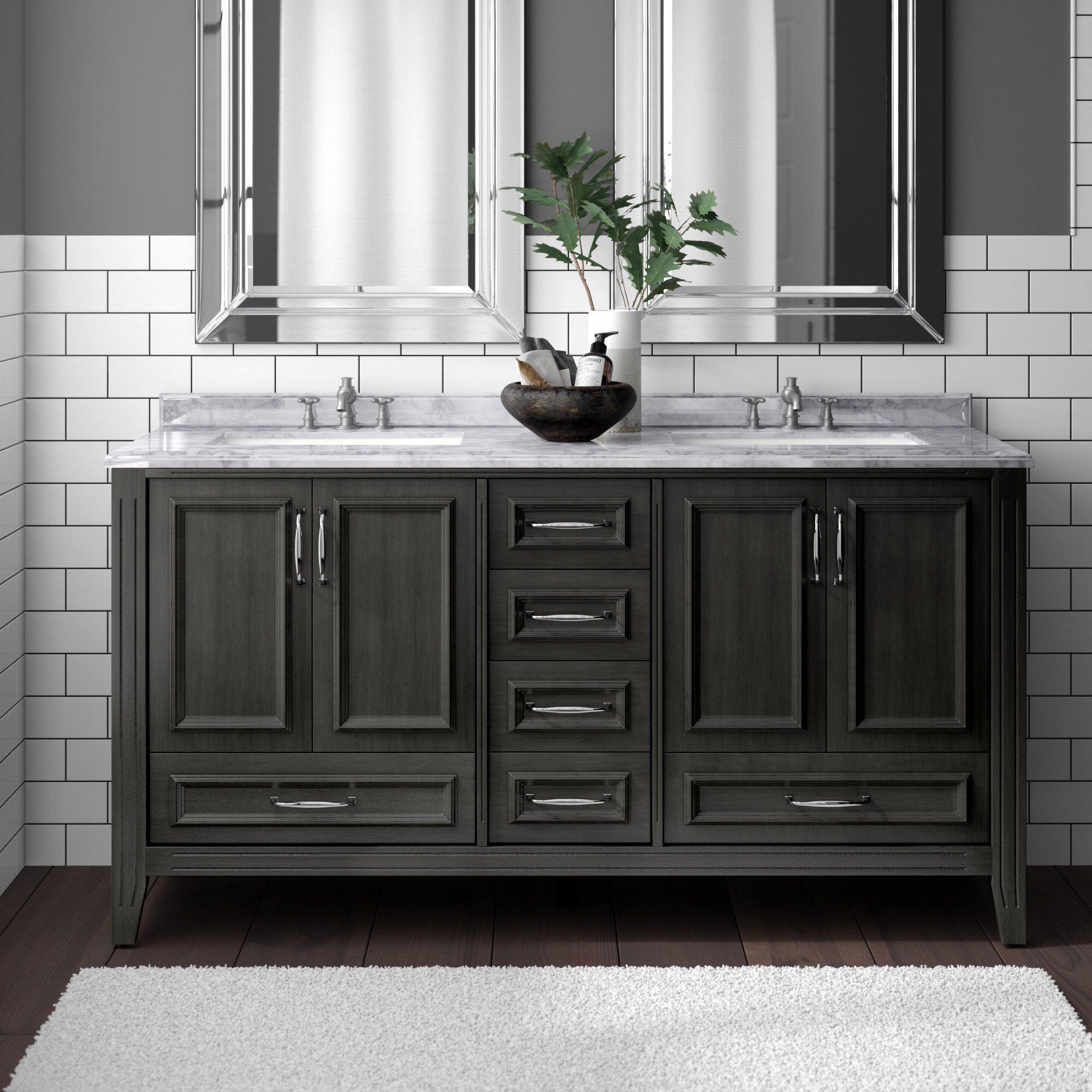 Schulenburg 60 Double Bathroom Vanity Set Bathroommakeovers With Images Double Vanity Bathroom Bathroom Vanity Double Vanity