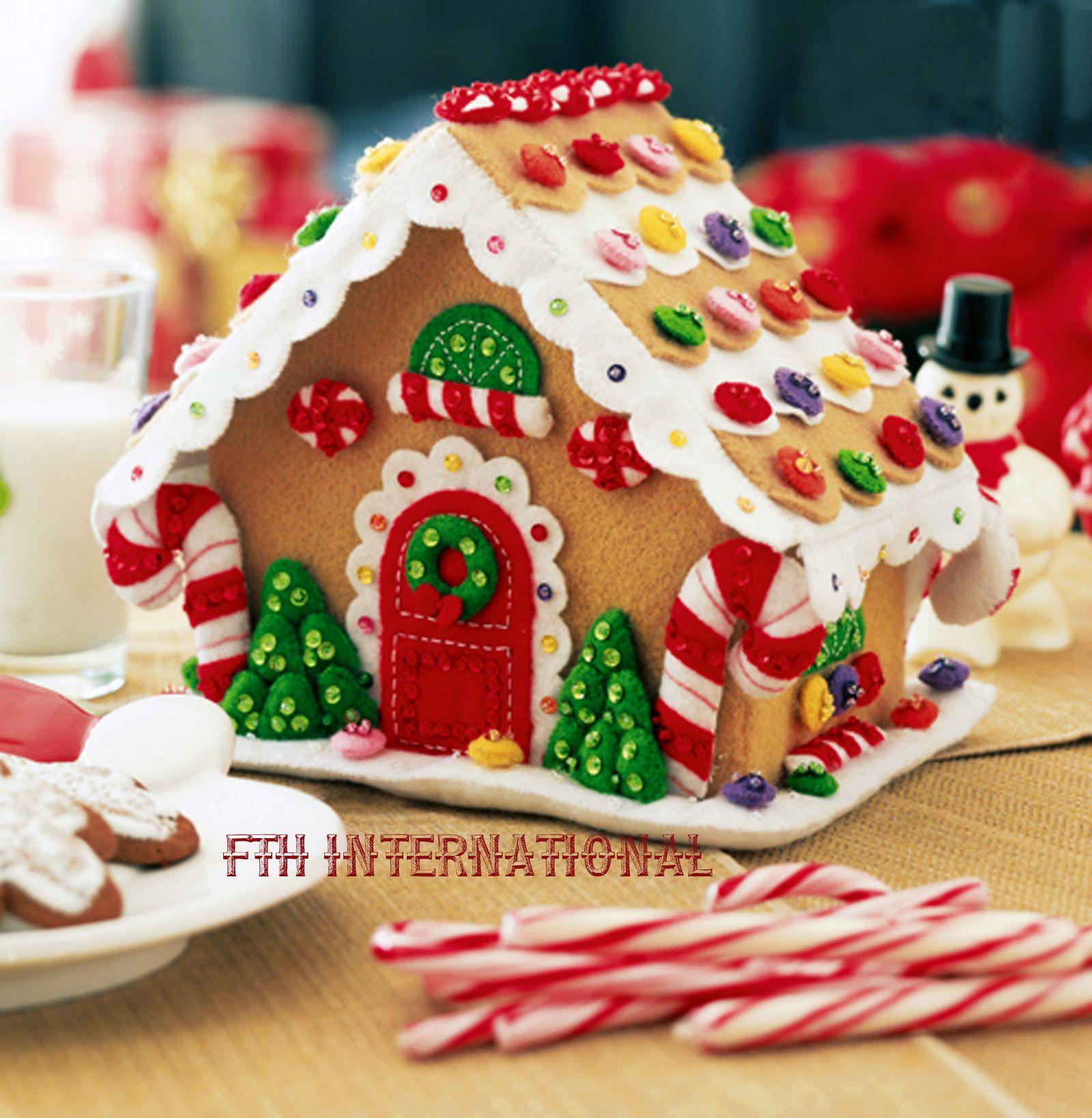 Gingerbread House Bucilla Felt Christmas 3D Home Decor Kit