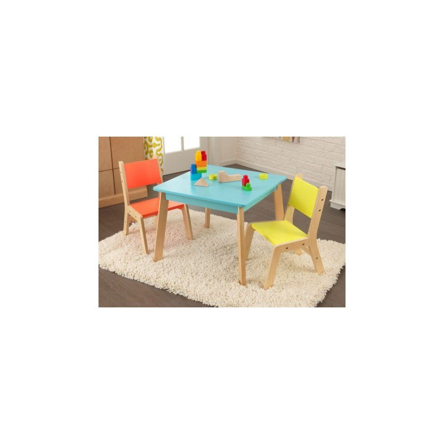 Highlighter Kids 3 Piece Square Table and Chair Set   Baby Care ...