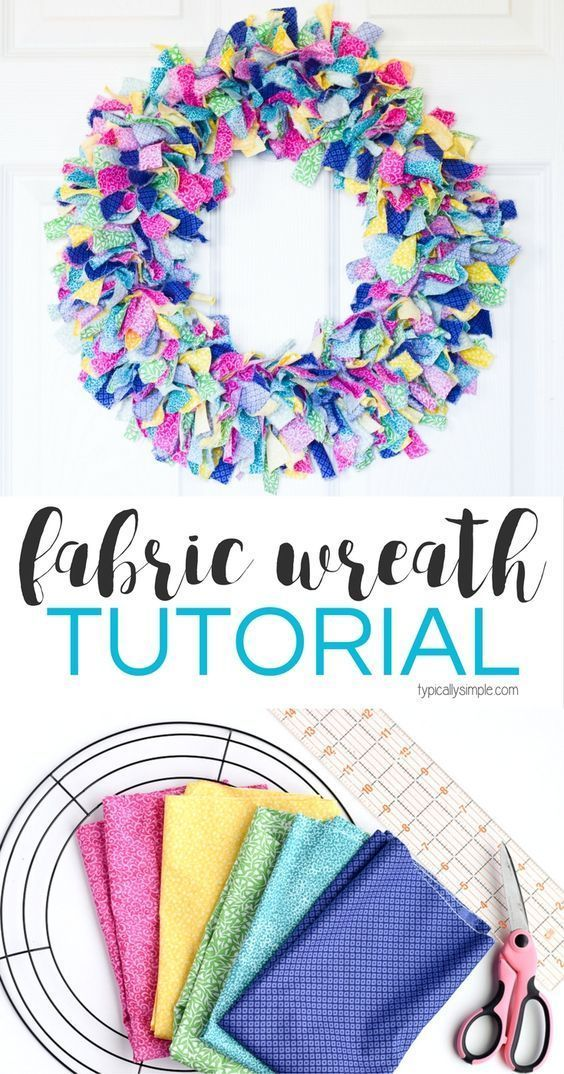 Fabric Rag Wreath Tutorial